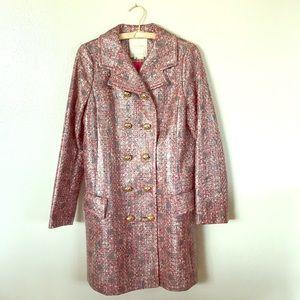 Kate Spade rare tweed Deborah coat Size 6